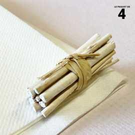Mini-fagot bois blanc décoration 5 cm. Par 4