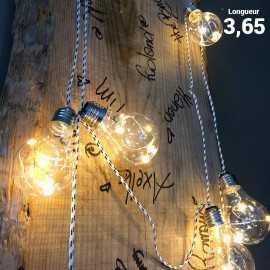 Guirlande lumineuse 3,65 m 10 ampoules LEDS