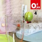 Marque-verre Pince-nappe macaron vert. Par 4