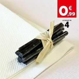 Mini-fagot bois noir décoration 5 cm. Par 4
