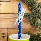 20 Pailles carton décor montagne turquoise