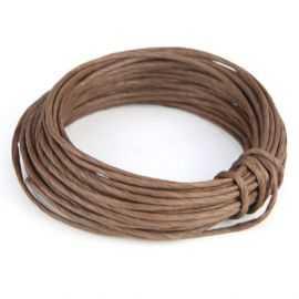 Corde en papier laitonné chocolat 10 mètres