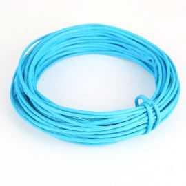 Corde en papier laitonné turquoise 10 mètres