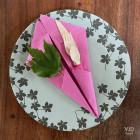 Serviettes en papier Soft fuschia. 38 cm x 38 cm.