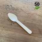 Petite cuillère bois 12cm biodégradable Par 50
