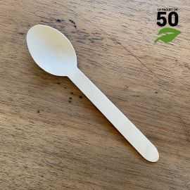 Grande cuillère bois 16,5cm biodégradable Par 50