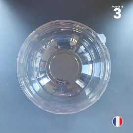 3 Couvercles à saladiers 2,25 litres. Recyclables - Réutilisables