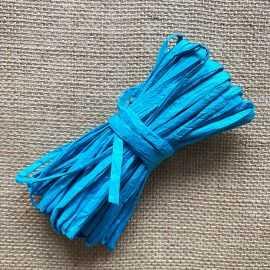 Raphia naturel turquoise spécial déco 10 mètres