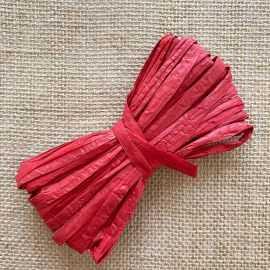 Raphia naturel rouge spécial déco 10 mètres