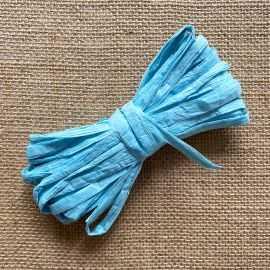 Raphia naturel bleu clair spécial déco 10 mètres
