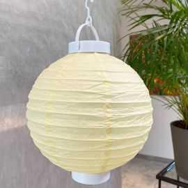 Lampion lumineux ivoire 20 cm.