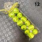 12 Boules en fil scintillant vertes 3 cm
