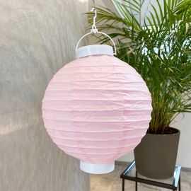 Lampion lumineux rose 20 cm.