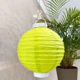 Lampion lumineux vert 20 cm.