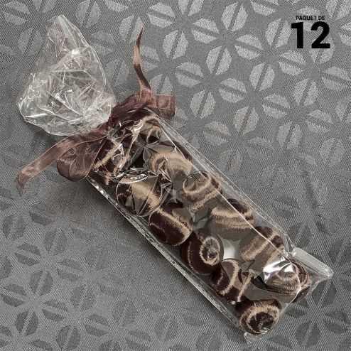 12 Boules en fil scintillant noires 3 cm
