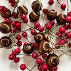 12 Boules en fil scintillant chocolat 3 cm