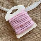 Cordon en laine déco rose 3 mètres