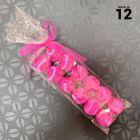 12 Boules en fil scintillant fuchsia 3 cm