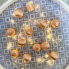 12 Boules en fil scintillant corail 3 cm
