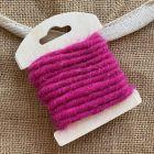 Cordon en laine déco fuchsia 3 mètres