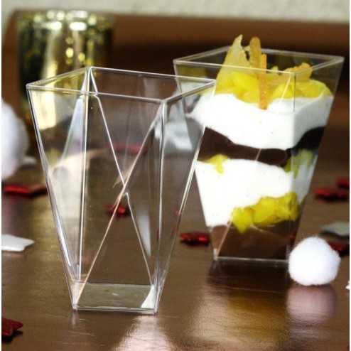 verrine plastique diamant transparente 15 cl vaisselle jetable discount. Black Bedroom Furniture Sets. Home Design Ideas
