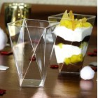 Verrine plastique Diamant transparente 15 cl
