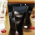 Verrine plastique Diamant noire 15 cl