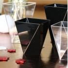 Verrine plastique Diamant noire 10 cl