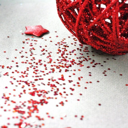 Paillettes de table Rouges