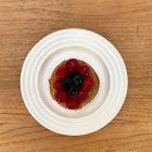 Assiettes biodégradables design blanc 18 cm. Par 50