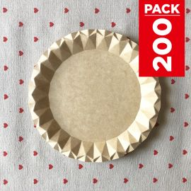 Pack 200 Assiettes carton kraft design 18cm