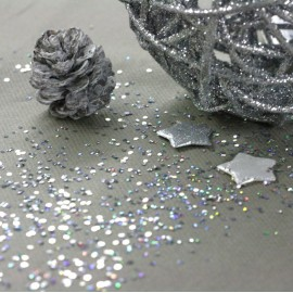 Paillettes de table Argent