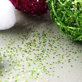 Paillettes de table vertes