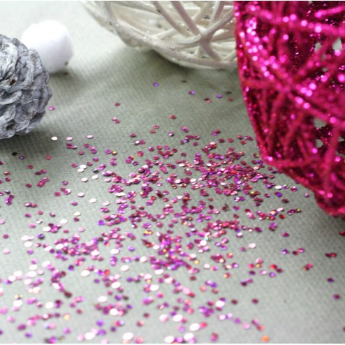 Paillettes de table Fuschia