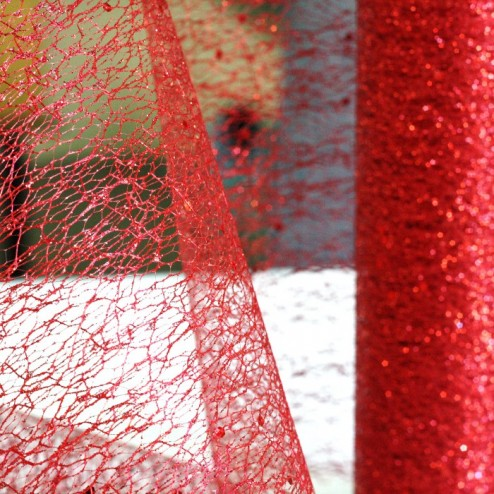 Chemins de table Glitter Rouge