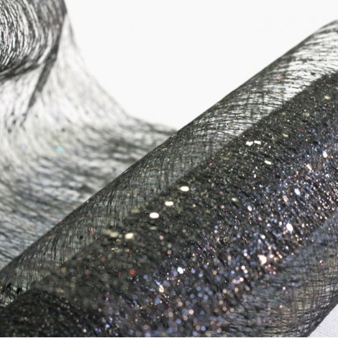 Chemins de table Glitter Noir