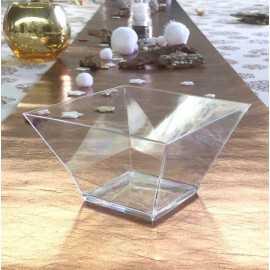Coupelle plastique carrée transparent 125 cl