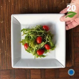 20 Assiettes carton 23 cm carrées. Biodégradables.