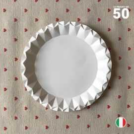 Assiette carton blanc design 18 cm. Par 50