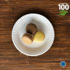 Assiettes biodégradables rondes 15 cm. Par 100