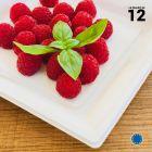 Assiette carrée style blanche. Recyclable. Par 12