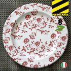 8 Assiettes carton rouge 26 cm. Biodégradables et compostables.