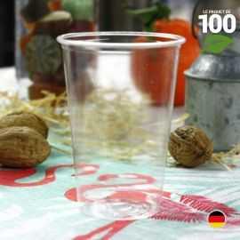 Gobelet PLA biodégradable compostable 23 cl. Par 100