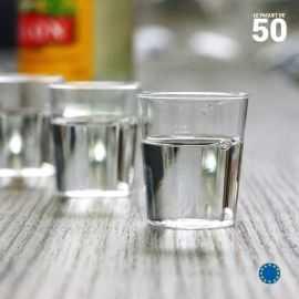 Verres shooter plastique 3 cl. Recyclables. Par 50.