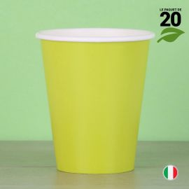 20 Gobelets verts 25 cl. Biodégradables et compostables.