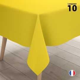 Nappe en non-tissé jaune citron. 10 mètres.