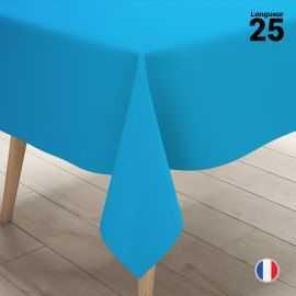 Nappe en non-tissé bleu canard. 25 mètres.