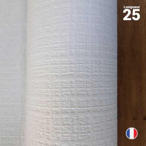 Nappe papier tendance lin. Blanche. 25 mètres.