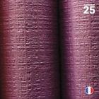 Nappe papier tendance lin. Aubergine. 25 mètres.