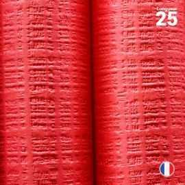 Nappe papier tendance lin. Rouge. 25 mètres.